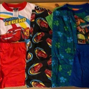 6-Piece 2T Pajama Bundle Cars/Paw Patrol